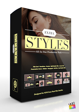 Final Cut Pro X Plugin's Extra Styles Production Package from Pixel Film Studios