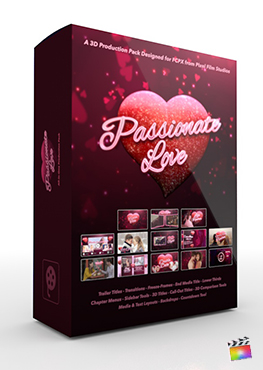 Final Cut Pro X Plugin (Passionate Love) 3D Production Package from Pixel Film Studios