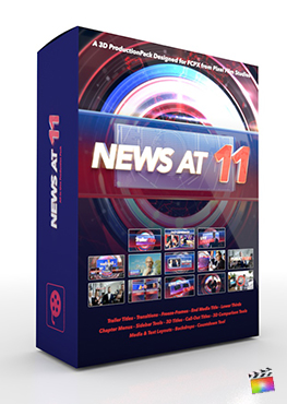 Final Cut Pro X Plugin 11 News 3D Production Package from Pixel Film Studios