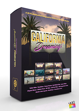 Final Cut Pro X Plugin California Dreaming 3D Production Package from Pixel Film Studios
