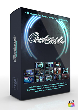 Final Cut Pro X Plugin Cocktails 3D Production Package from Pixel Film Studios