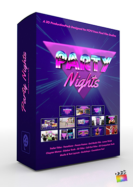 Final Cut Pro X Plugin Party Nights 3D Production Package from Pixel Film Studios