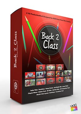 Final Cut Pro X Plugin Back 2 Class 3D Production Package from Pixel Film Studios