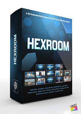 Final Cut Pro X Plugin Hex Room 3D Production Package from Pixel Film Studios