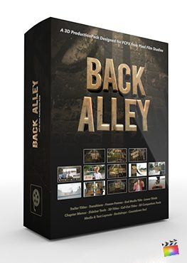 Final Cut Pro X Plugin Back Alley 3D Production Package from Pixel Film Studios