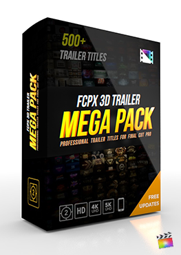 Final Cut Pro X Plugin FCPX 3D Trailer Mega Pack from Pixel Film Studios