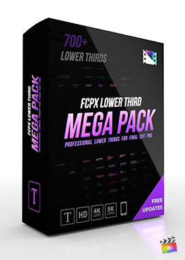 Final Cut Pro X Plugin FCPX Title Mega Pack from Pixel Film Studios