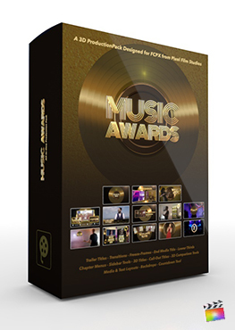 Final Cut Pro X Plugin Music Awards 3D Production Package from Pixel Film Studios