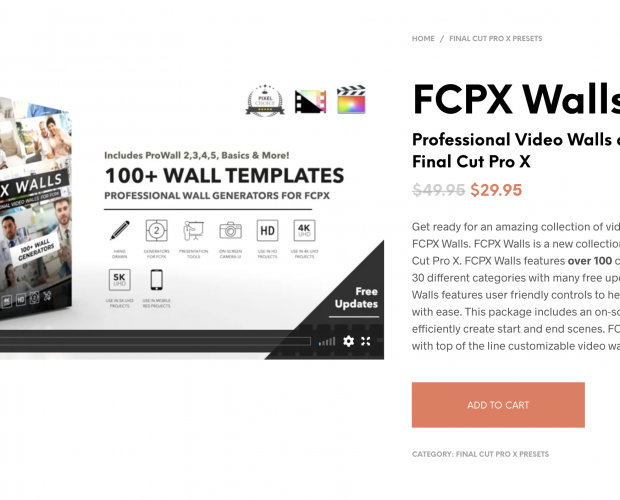Cover image for FCPX Walls from Pixel Film Studios