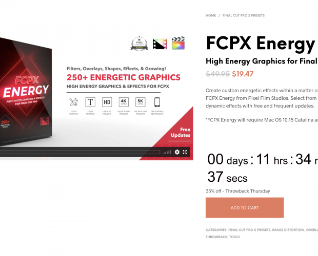 Cover image for FCPX Energy from Pixel Film Studios