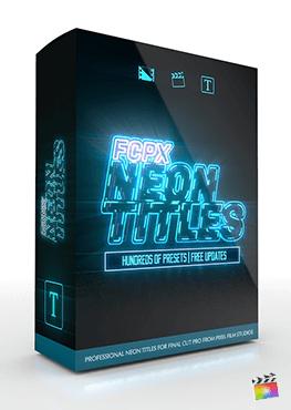 Final Cut Pro X Plugin FCPX Neon Titles from Pixel Film Studios
