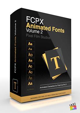Final Cut Pro X Plugin FCPX Animated Fonts Volume 2 from Pixel Film Studios
